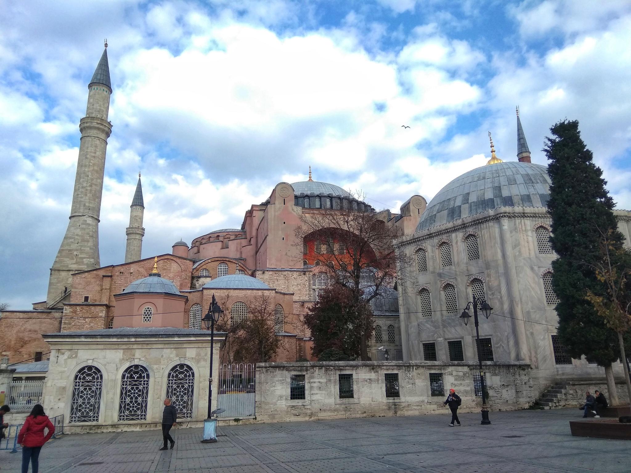 Обои Султанахмет, пролив, башни, Пейзаж, голубая мечеть, дворец, турция, стамбул. Города foto 19