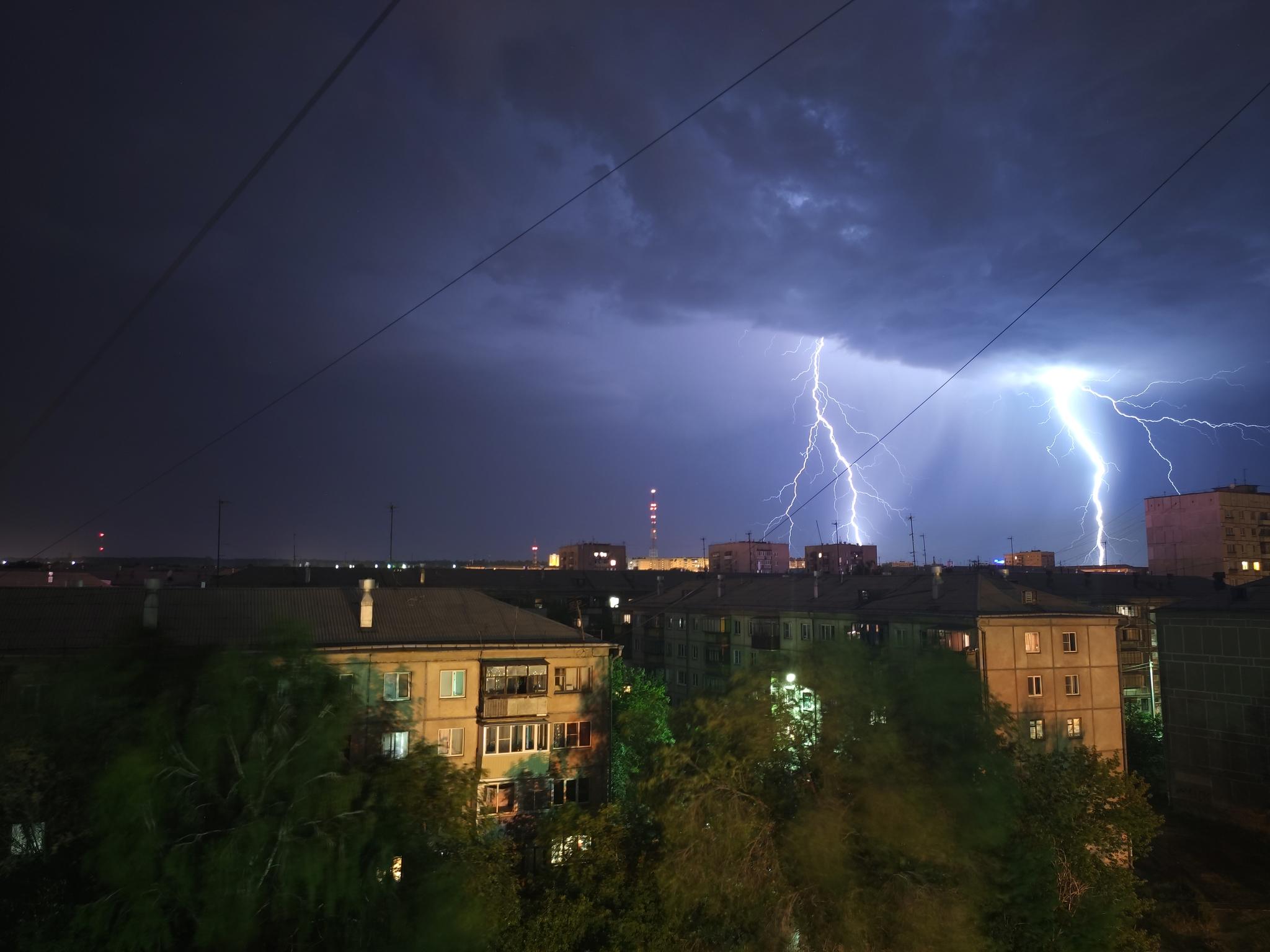 Обои гроза, молния, сша, ночь. Города foto 14