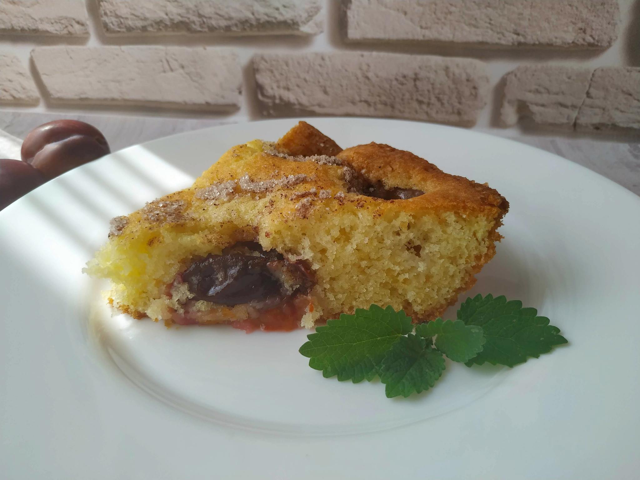 Обои пирог, сливы, сливовый, кофе, выпечка. Еда foto 10
